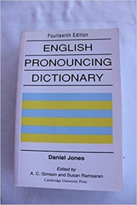 Image of English Pronouncing Dictionary